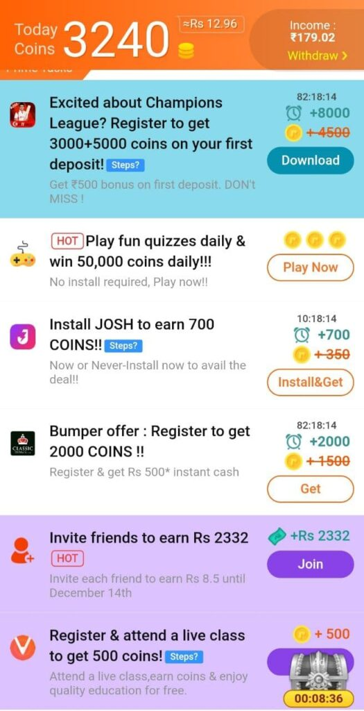 earn money by downloading apps, signups, completing surveys, playing games, watching videos and reading articles on rozdhan, india's highest paying app.
