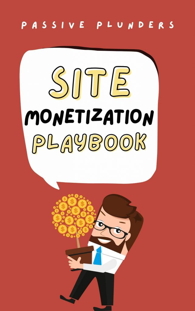 cover-of-passive-plunders-book-site-monetization-playbook-which-includes-a-man-with-a-plant-of-money-and-smiling-because-he-is-so-rich-the-book-contains-methods-to-monetize-your-website-or-blog-and-earn-money-online